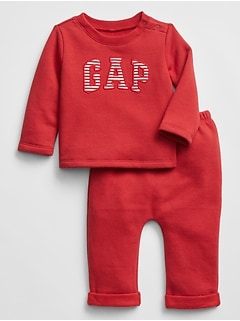 Baby Gap Logo Pull-On Pants Set