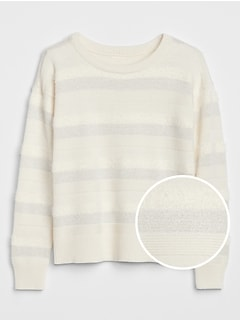 Kids Metallic Stripe Sweater