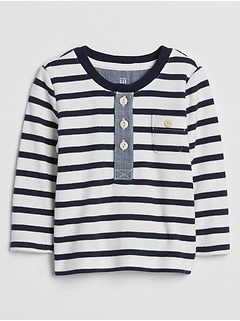 Baby Long Sleeve Henley T-Shirt