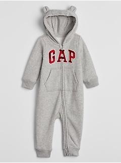 Baby Gap Logo Hoodie One-Piece