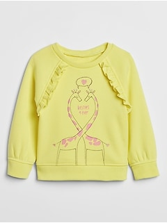 Toddler Print Raglan Sweatshirt