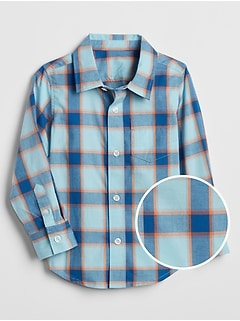 Toddler Plaid Long Sleeve Shirt