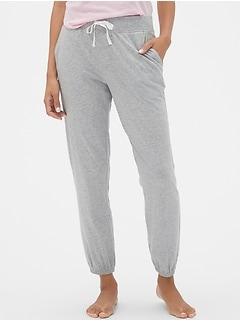 Print Joggers in Cotton-Modal