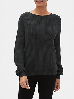 Relaxed Chunky Crewneck Sweater