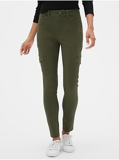 High Rise Skinny Cargo Pants