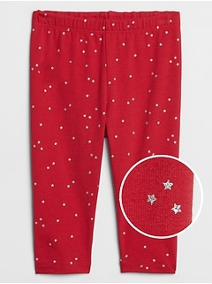 Baby Metallic Star Print Leggings