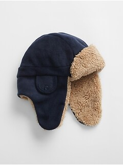 Kids Sherpa-Lined Trapper Hat