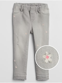 Toddler Embroidered Jeggings