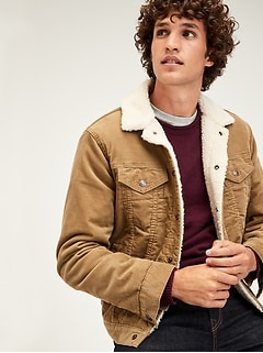 Sherpa-Lined Icon Cord Jacket