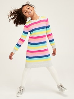 Kids Crazy Stripe Sweater Dress