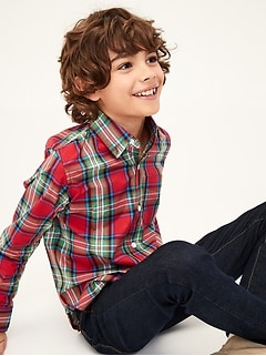Kids Plaid Long Sleeve Shirt