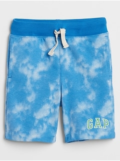 Kids Tie-Dye Gap Logo Shorts in French Terry