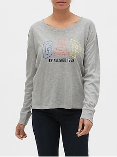 Gap Logo Long Sleeve T-Shirt