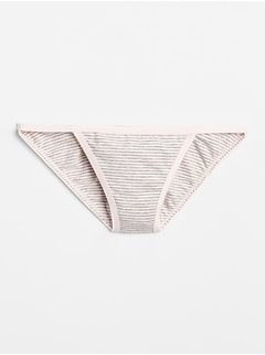 Stretch Cotton String Bikini