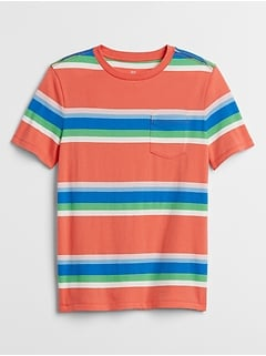 Kids Stripe Short Sleeve T-Shirt