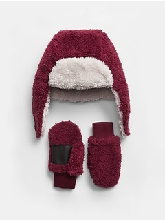 Baby Sherpa Trapper Hat Set