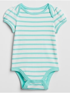 Baby Print Short Sleeve Bodysuit