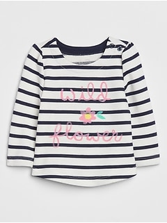 Baby Crewneck Print Sweater Top