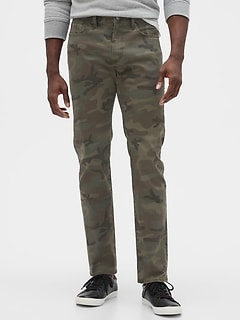 Skinny Fit Camo Jeans with GapFlex