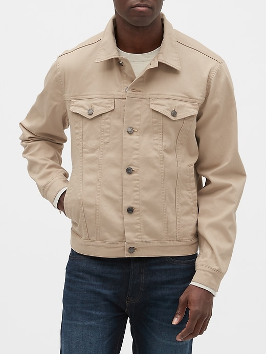 Gap Men's Icon Denim Jacket (New Tan)