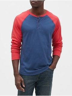 Colorblock Henley T-Shirt