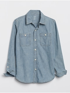 Kids Chambray Carpenter Shirt+B23