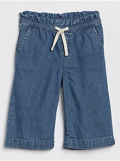 Toddler Wide-Leg Crop Jeans