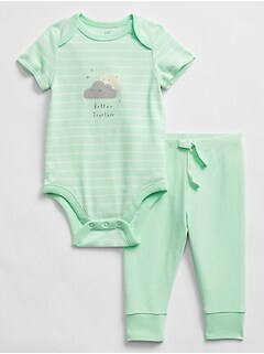Baby Graphic Bodysuit Outfit Set
