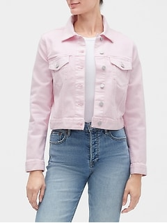 Crop Icon Denim Jacket