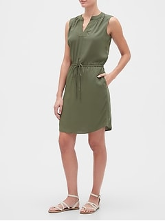 Tie-Waist Dress in Rayon