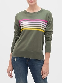 Crewneck Tunic Sweater