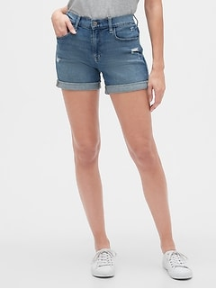 "5"" Distressed Denim Shorts"