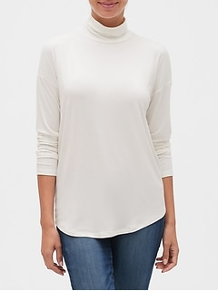 Luxe Turtleneck Long Sleeve T-Shirt