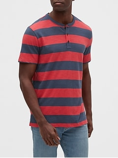 Stripe Henley T-Shirt
