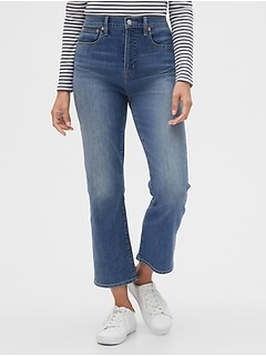 High Rise Crop Boot Jeans