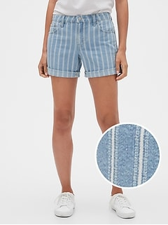 "5"" Stripe Denim Shorts"