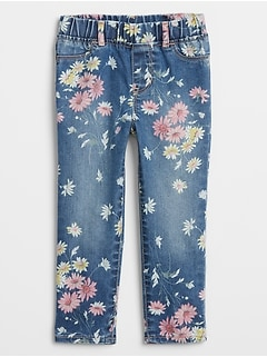 Toddler Floral Print Jeggings