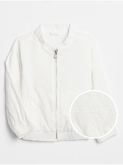 Toddler Eyelet Bomber Jacket