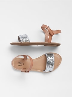 Kids Sequin Sandals