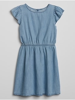 Kids Denim Flutter Dress