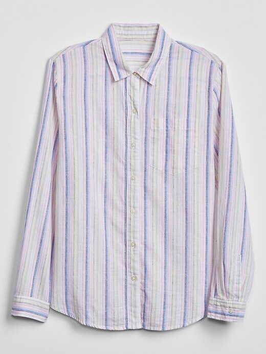 Stripe Shirt in Linen