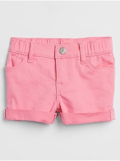 Toddler Pink Denim Shorts