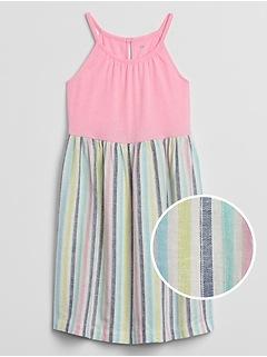 Kids Apron Print Dress