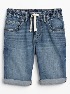 Kids Denim Pull-On Shorts