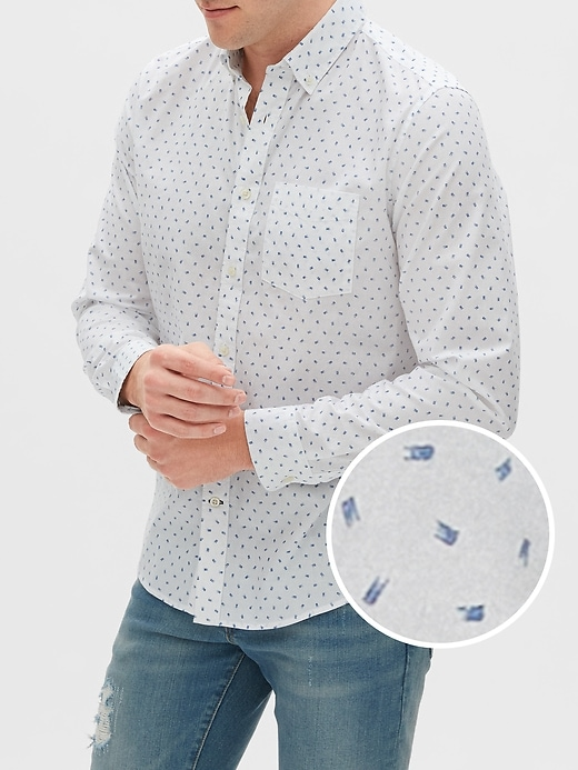 Poplin Shirt in Untucked Fit