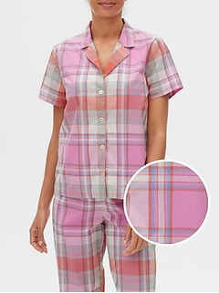 Plaid Poplin Top