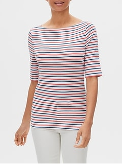 Favorite Stripe Boatneck T-Shirt