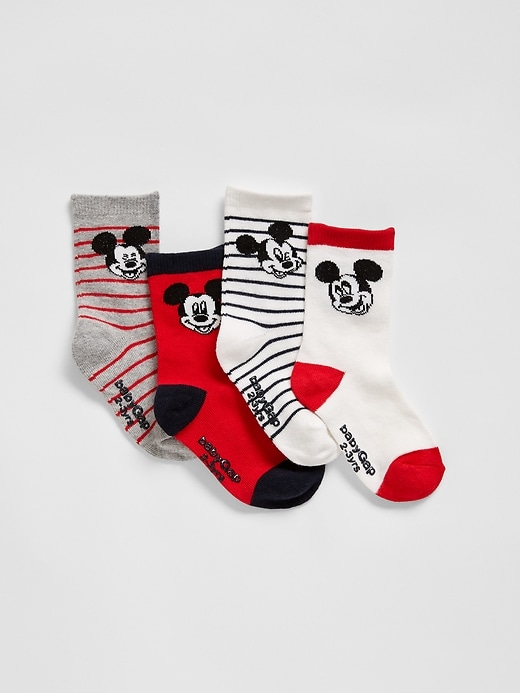 Gap Factory babyGap ' Mickey Mouse Crew Socks (4-Pack)