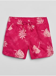Kids Print Pull-On Shorts