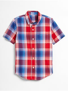 Kids Print Poplin Shirt